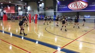 PVA elite 14 gets the victory over OT South Rox Gold, 25-19