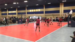 Things end all tied up between So Cal Spikers  and Vegas Ignite 14