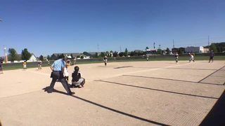 Things end all tied up between Beverly Bandits DeMarini Dorsey and New Lenox Lightning Gold