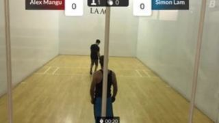 Jeff C. streaming Racquetball at Los Angeles, CA