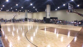 Philadelphia Belles (EYBL Peterson) with a win over Blue Star UNY Capitals (Lombard), 52-14