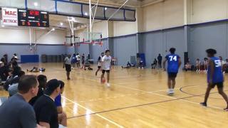 Blue picks up the 98-75 win against White