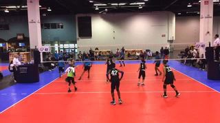 Things end all tied up between Bay to Bay 13-1 (NC) and 352 Elite Boys Rox 14Lime (FL)
