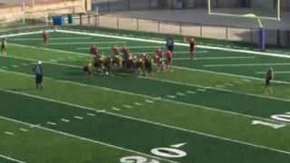 KC BULLDOGS with a win over SAINTS, 18-6
