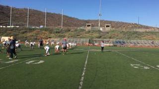Christian B. streaming Football at Rancho San Diego, CA