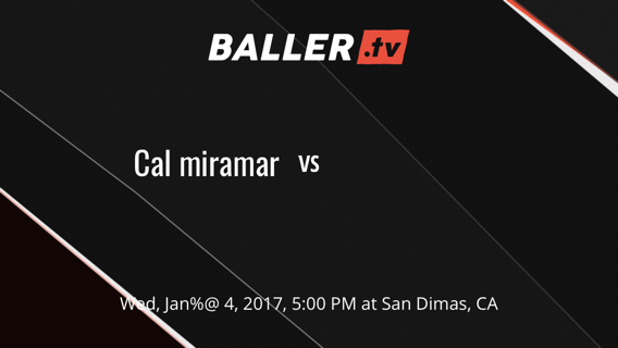 Cal miramar  vs Team 2