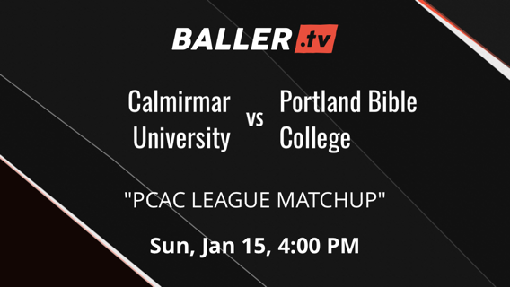 Calmirmar University vs Portland Bible College