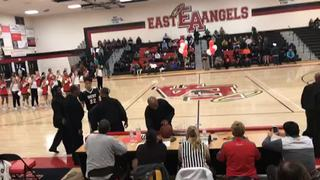 East with a win over West, 92-46