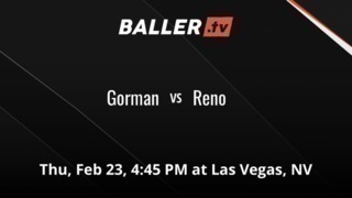 Gorman gets the victory over Reno , 89-60