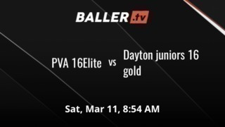 PVA 16Elite vs Dayton juniors 16 gold
