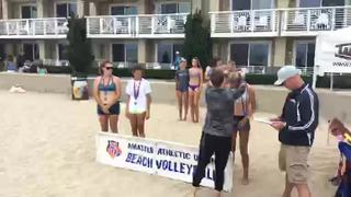 It's a wash between Girls 15u  AAU  and Medal Ceremony