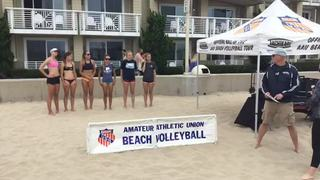 Things end all tied up between Girls 16u AAU and Medal Ceremony