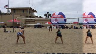 Frohoff/Villapando emerges victorious in matchup against Bullins/Turner, 17-13