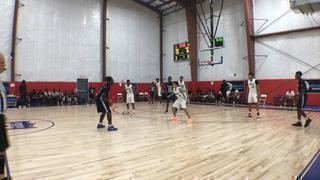 Team Melo EYBL 15U with a win over NJ Roadrunners, 46-36