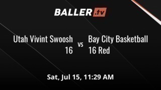 Utah Vivint Swoosh 16 with a win over Bay City Basketball 16 Red, 68-45