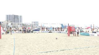 Denaburg/Powers emerges victorious in matchup against Shannon/Spelcher, 21-13