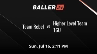 Things end all tied up between Team Rebel and Higher Level Team 16U