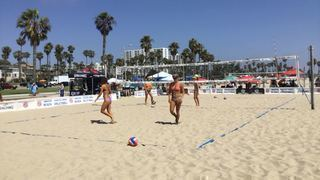 Bauer/Fitzpatrick steps up for 28-20 win over Slagerman/Micheletti