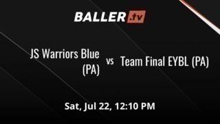 Team Final EYBL (PA) wins 52-43 over JS Warriors Blue (PA)