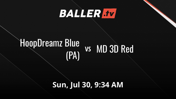 HoopDreamz Blue (PA) vs MD 3D Red