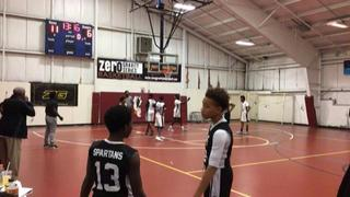 Boston Spartans 2023 with a win over Boston Spartans 14U, 76-53