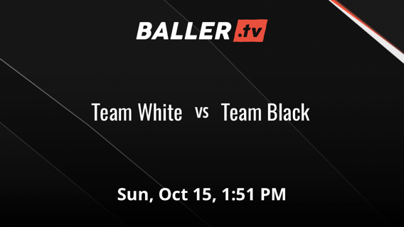 Team White emerges victorious in matchup against Team Black, 97-74
