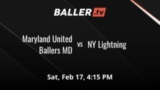 Things end all tied up between Maryland United Ballers MD and NY Lightning