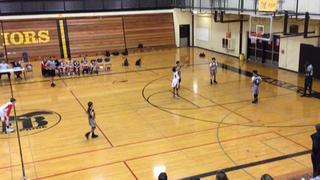 Camas (Red) getting it done in win over Sacramento Cobras, 60-55