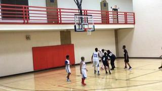 East GA Panthers(Brown) getting it done in win over D.T. Elite, 37-15