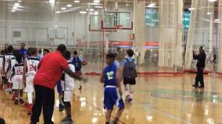 Things end all tied up between E1T1 HOOPSTERS and NYBA ELITE