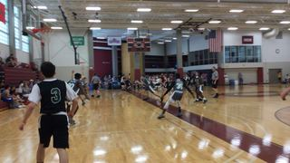 VT ELITE 2021 with a win over CWB 15U, 46-29