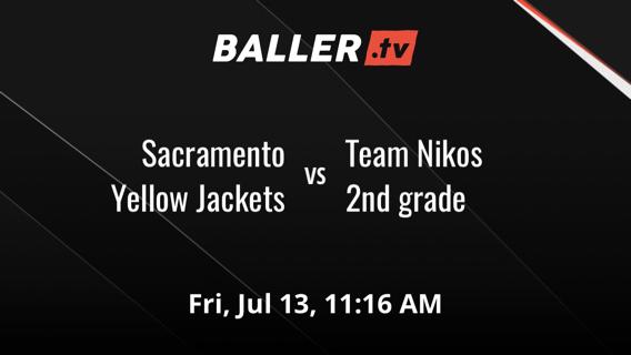 Sacramento Yellow Jackets vs Team Nikos 2nd grade
