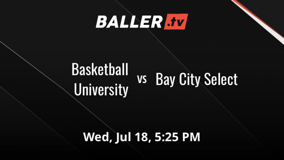 Basketball University vs Bay City Select