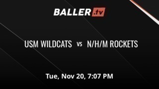 Things end all tied up between USM WILDCATS  and N/H/M ROCKETS