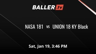 NASA 181 vs UNION 18 KY Black