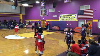 Raising Young Men 2023 gets the victory over Team Wall Big East Barnes, 50-23