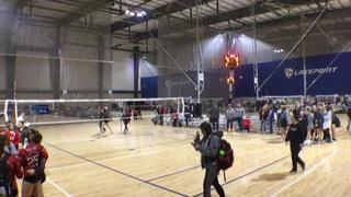 Prolink 17 Red A (SO) wins 2-0 over Volley One 18-1 Taylor (SO)