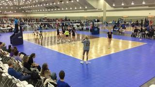 Things end all tied up between DVA Select Blue (CH) (13) and AVC CLE Rox 18N Meredith (OV) (4)