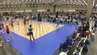 Things end all tied up between American 18 (CH) (32) and CT Juniors 18s (NE) (41)