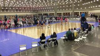 Things end all tied up between apexv1 18 Magic (GE) (20) and VolleyFX 18 Mystery (WE) (45)