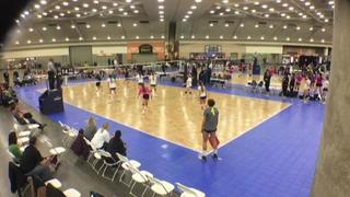 NYC Juniors 18 N (GE) (19) takes FUSION VBC 18 Blue (KE) (8) to the woodshed in 2-0 shutout victory