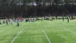 Minority Coaches Association of Georgia Purple defeats Max Ex Black, 14-7