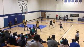 Hou Defenders 2023 emerges victorious in matchup against TJ Ford Grey. 14u, 53-34