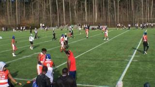 Maximum Exposure Blue picks up the 35-6 win against Minority Coaches Association of Georgia Silver