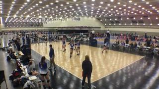 GSEVC 18 Premier (GE) (27) defeats VolleyFX 18 Mystery (WE) (45), 2-0