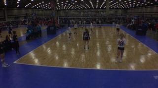 SA Force 144 Black (LS) wins 3-0 over 501 Volley 14 Purple (DE)