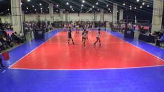 VolleyFX 14 Spell (WE) defeats Downstate 14 Red (GE), 2-0