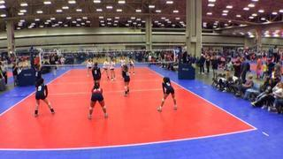 AJV 13 Cedar Park (LS) wins 2-1 over 501 Volley 13 Purple (DE)