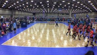 Things end all tied up between W Revolution 14 Molten-KW (LS) and STVA 14 White (LS)