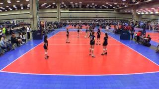 Things end all tied up between NRG VBC 13 BLUM (NT) and Texas United 13White (LS)
